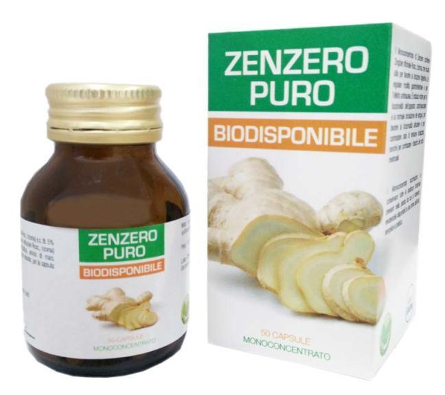 zenzero puro biodisponibile